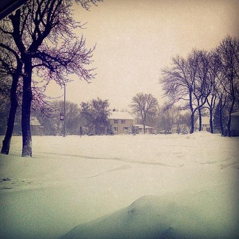 Snowfall North Dakota April