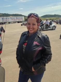 My first time as an official biker babe.. I got my leathers!